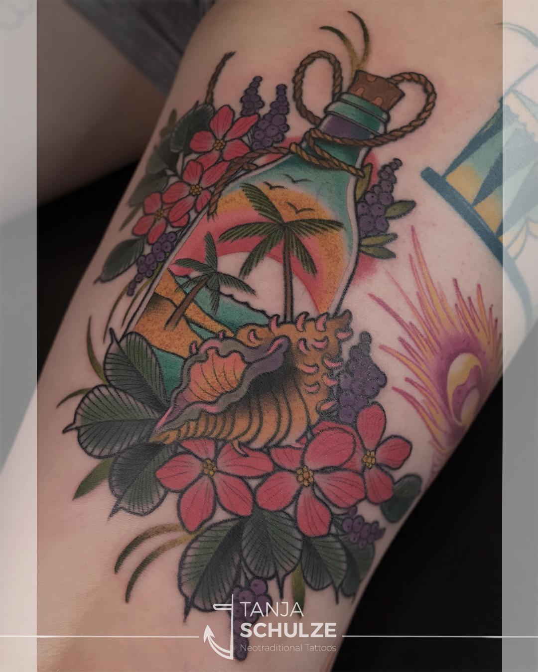 Tattoo Urlaub im Glas