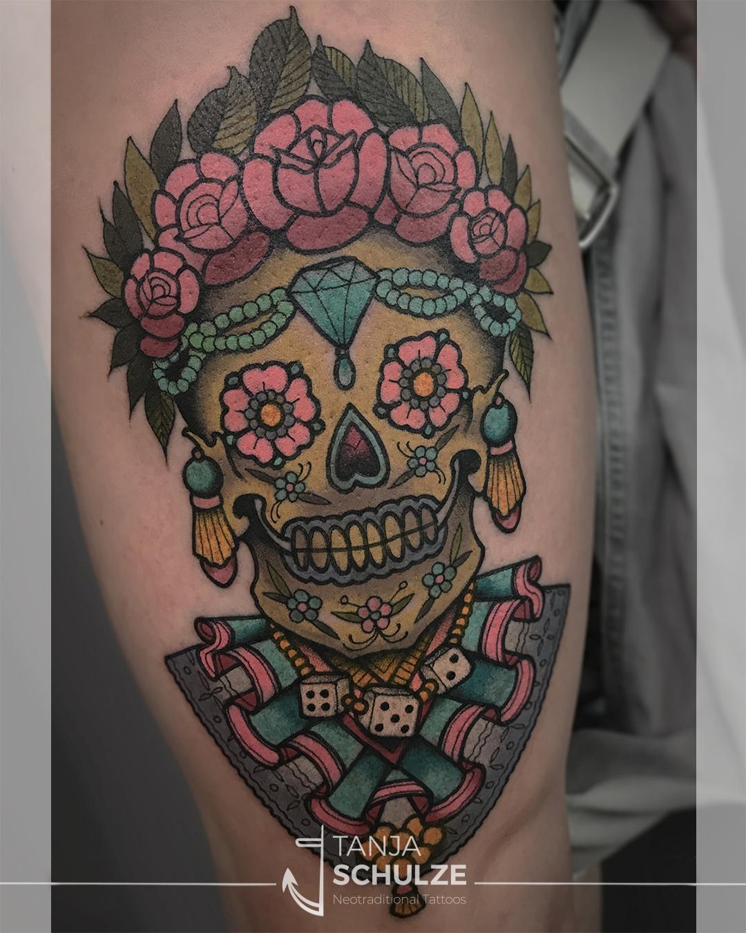 Tattoo Zuckerschädel