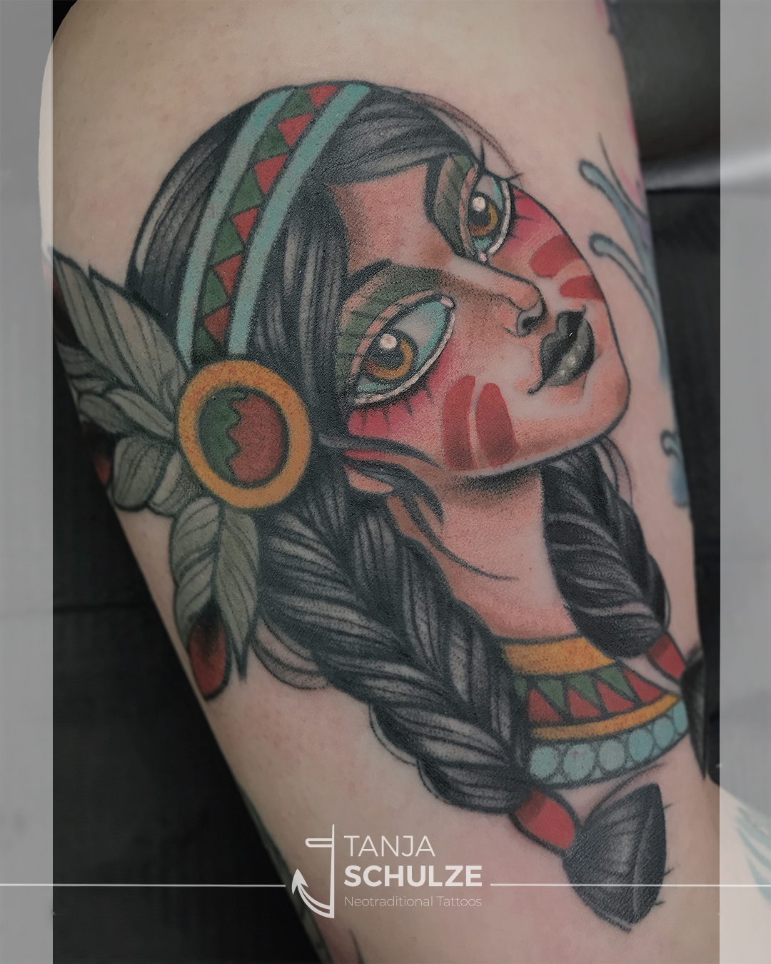 Tattoo Native Girl